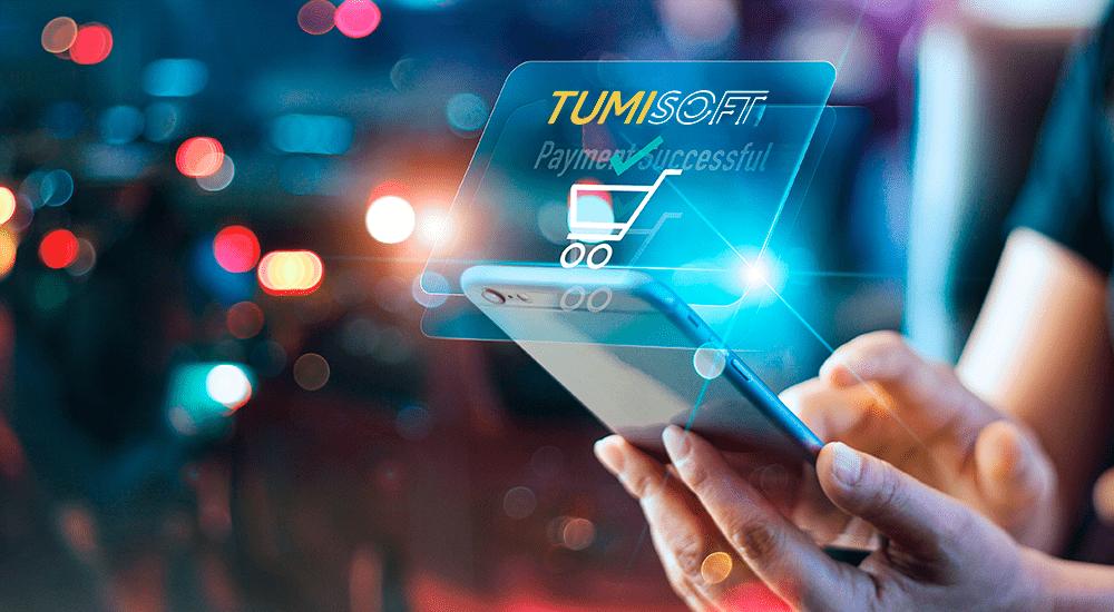 celular abriendo aplicaciones de tumisoft para emitir una facturación electrónica
