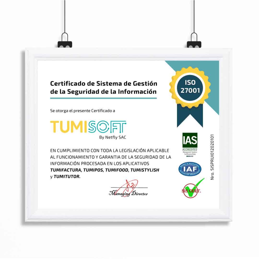 CERTIFICADO EN SEGURIDAD ISO 27001